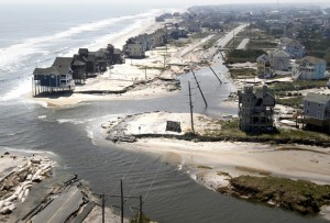Outer Banks flooding from Hurricane Irene (2011). Modeling software used to understand high-impact events will benefit from software development best practices.