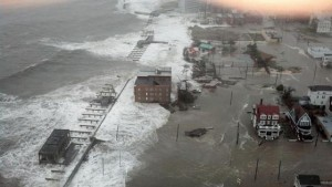 Aftermath of Hurricane Sandy. RENCI and the DHS Coastal Resilience Center work together to improve hurricane storm surge prediction.