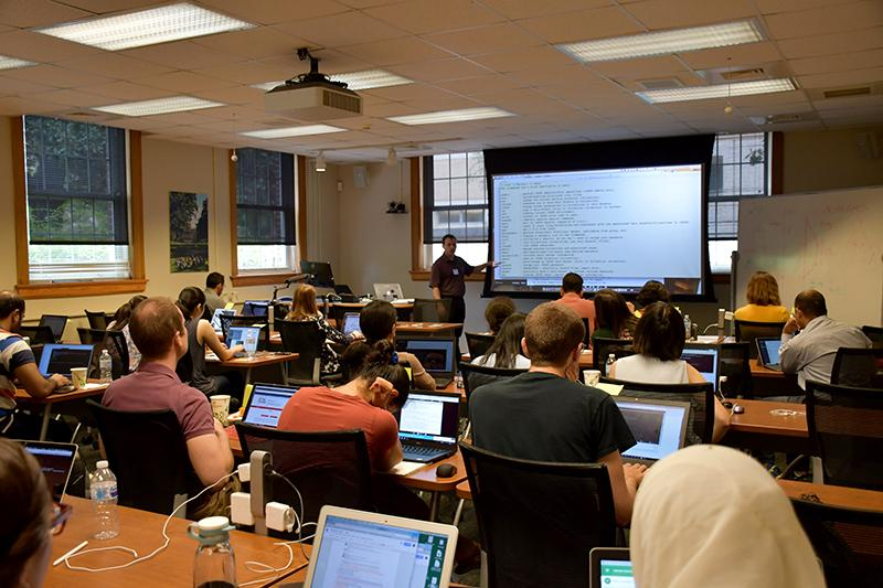 iRODS Chief Technologist Terrell Russell discusses the capabilities of the open source data management software with Cyber Carpentry participants.